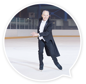 Donald Jackson is very active in the Canadian figure skating circuit even at the age of 76.