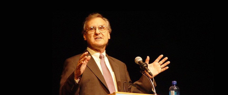 Stephen Lewis, at the recent NDP convention in Edmonton, where he spoke about an environmental catastrophe that was certain to arrive during the Millennials' lifetime.