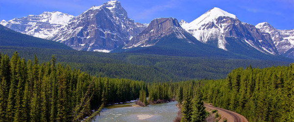 Canadian seniors can enjoy a rich travel experience via rail or road through the Canadian Rockies.